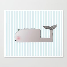 Gentleman Whale Canvas Print