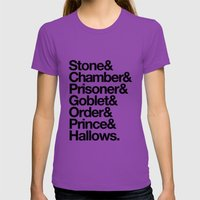 Stone & Chamber & Prisoner & Goblet & Order & Prince & Hallows Womens Fitted Tee Ultraviolet SMALL
