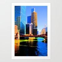 Clark St. Bridge, Chicago (Pop) Art Print