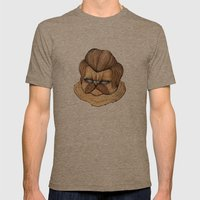 Ron Swanson Cat Mens Fitted Tee Tri-Coffee SMALL