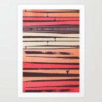 Peach 'N Creme Art Print
