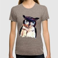 Owl Womens Fitted Tee Tri-Coffee SMALL