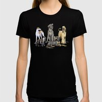 Graceful Sighthounds Womens Fitted Tee Black SMALL