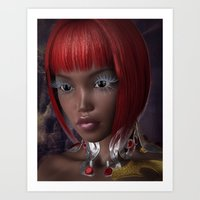 Oriental Eyes Art Print