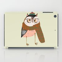 Owls Love Scarfs.  iPad Case