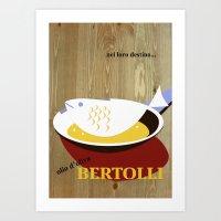 Vintage Bertolli Olive O… Art Print