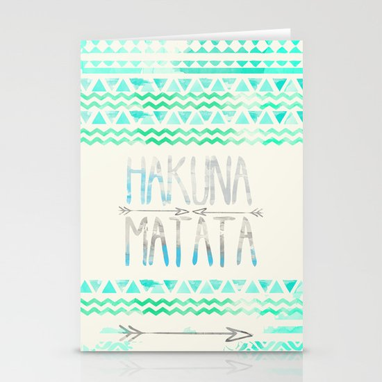 Hakuna Matata Stationery Card