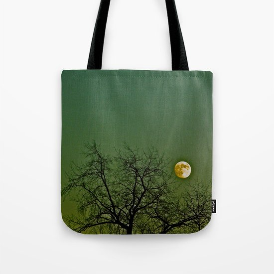 Tangled Tree Moon Tote Bag