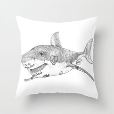 Shark Prank Throw Pillow