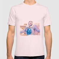 COME TO ME Mens Fitted Tee Light Pink SMALL