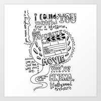 lyrics Art Prints featuring Lettering Lyrics by Insait disseny