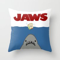 JAWS Movie Poster Throw Pillow