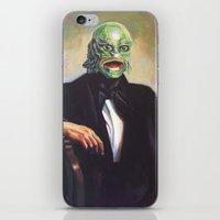 Portrait of Monsieur Gills iPhone & iPod Skin