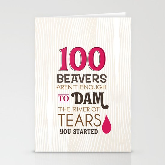 river of tears Stationery Card