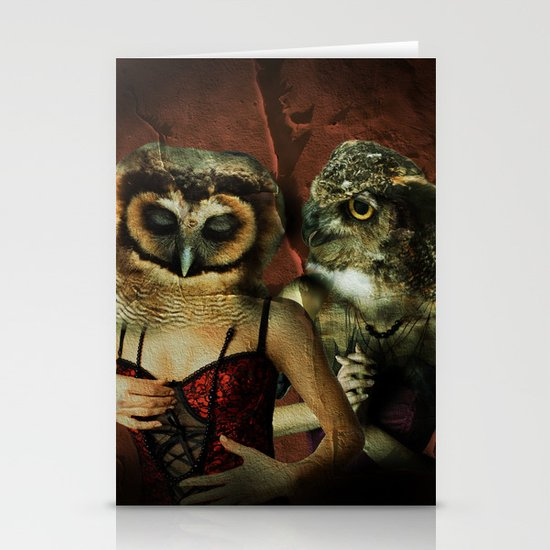 Night Owls Stationery Card