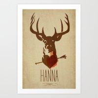 HANNA Film Tribute Poste… Art Print