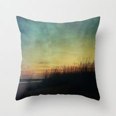 Floating in a Turquoise Sea Throw Pillow