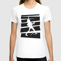 Legendary Punk Frontman Womens Fitted Tee White SMALL