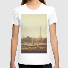 Springtime in Paris Womens Fitted Tee White SMALL