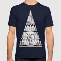 Young Hearts Mens Fitted Tee Navy SMALL