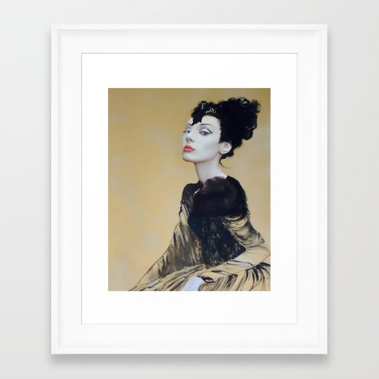 Gold Eyes Framed Art Print