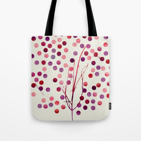 Tree of Life_Berry by Jacqueline & Garima Tote Bag