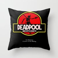 Deadpool : Merc with a Mouth Throw Pillow