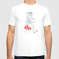 Girl Drawing. Mens Fitted Tee White SMALL