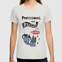 Professional Recluse Womens Fitted Tee Silver SMALL