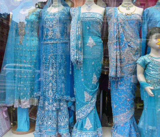 Blue Saris for Sale Art Print