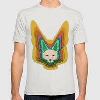 Fannec Fox Mens Fitted Tee Silver SMALL