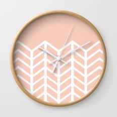 LACE CHEVRON (PEACH) Wall Clock