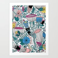 Art Print featuring SPRING FLOWERS by Ana Depuntillas