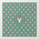 Oh Deer (white) Canvas Print