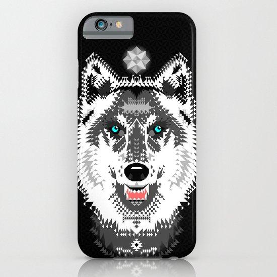 Silver Wolf Geometric iPhone & iPod Case