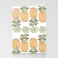 Pineapples Stationery Cards