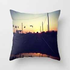 And We're Off Throw Pillow