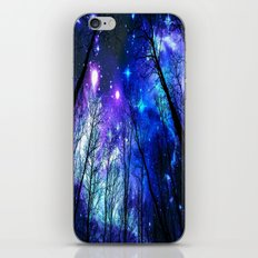 Black Trees Purple Blue … iPhone & iPod Skin