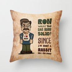 Ron Swanson 2 Throw Pillow