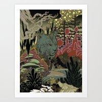 Zen Lynx Art Print
