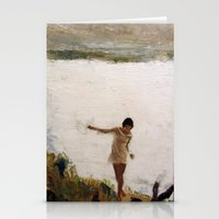 Lake and Girl Stationery Cards