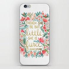 Little & Fierce iPhone & iPod Skin