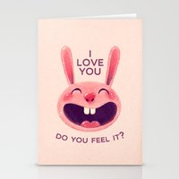Bunny with love Stationery Cards