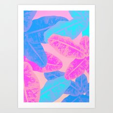 Banana multi Art Print