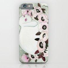 White Rabbit, Pink Poppies iPhone 6 Slim Case