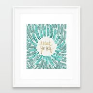 Treat Yo Self – Gold &… Framed Art Print