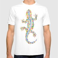 Barcelona Lizard Mens Fitted Tee White SMALL