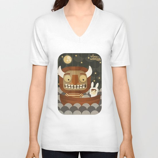 Where the wild things are fan art V-neck T-shirt