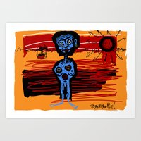 peace and love and happiness Art Print