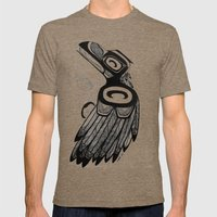 Raven Steals the Water Mens Fitted Tee Tri-Coffee SMALL